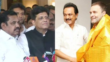 Lok Sabha Elections 2019: AIADMK, BJP Join Hands in Tamil Nadu, Puducherry; DMK-Congress Alliance Talks in Final Stages